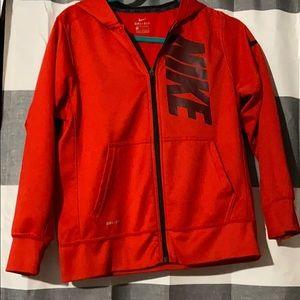 Youth Large Red Nike Zip Up Jacket